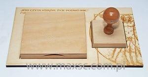 Podstawka stempla z poduszką na tusz