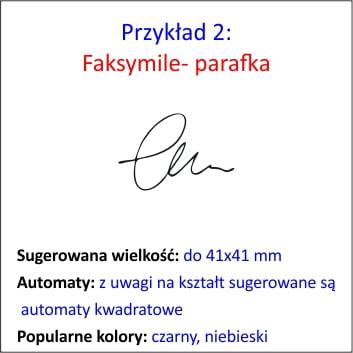 Faksymile- parafka