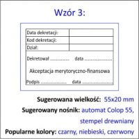 Wzór 3 stempel dekretacja księgowa